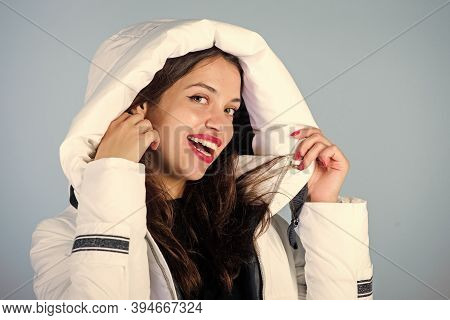 Not Every Jacket Is Ideal For Every Climate. Girl Wear White Jacket. Jacket Has Extra Insulation And