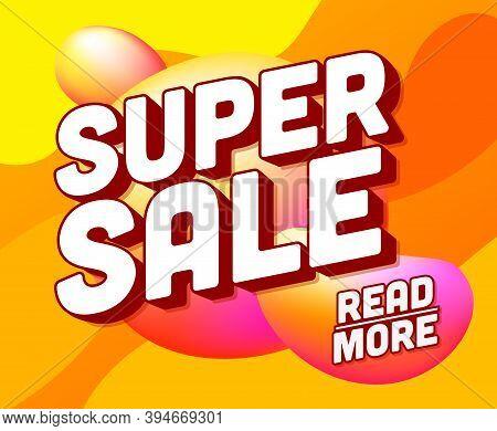 Super Sale Square Banner, Colorful And Playful Vector Design, Special Offer Banner. Super Sale Poste