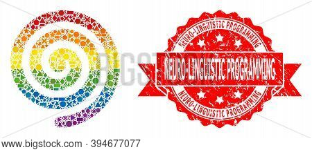 Bright Gradient Colorful Geometric Mosaic Hypnosis Spiral, And Neuro-linguistic Programming Grunge S