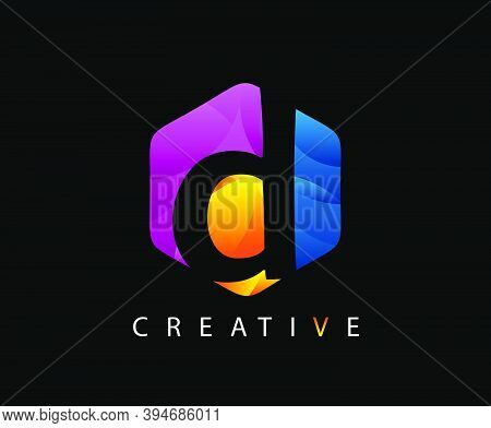 Letter D Digital Network , Technology And Digital Abstract Line D Network Circuit Vector Logo. .