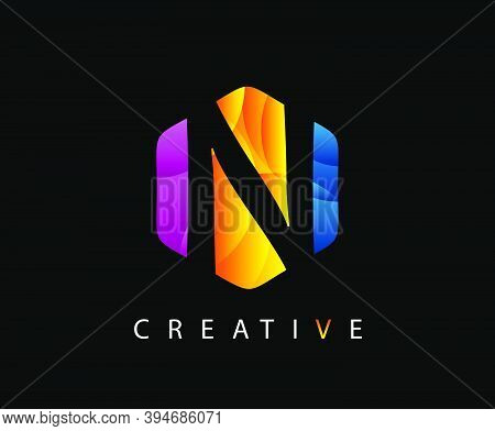 Letter N Digital Network , Technology And Digital Abstract Line N Network Circuit Vector Logo. .