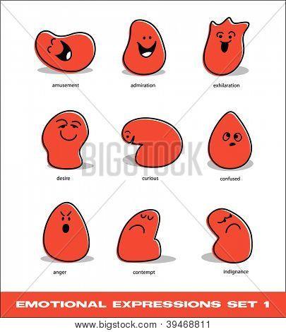 vector emotional expressions set 1