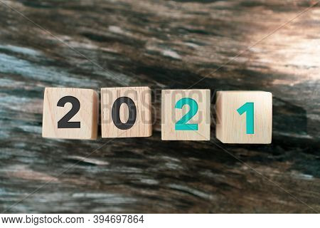 New Year 2021 Is Coming Creative Inspire Idea Concept. New Start For Planing Or Set New Resolution I