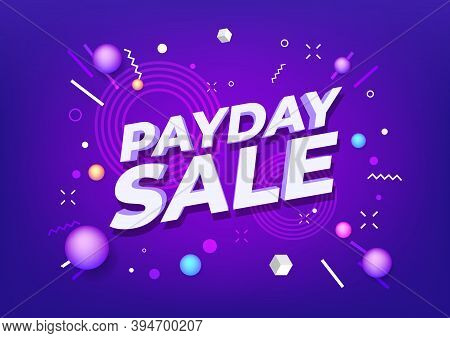 Payday Sale Special Offers Banner Vector Illustration.