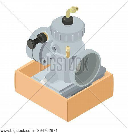 Carburetor Icon. Isometric Illustration Of Carburetor Vector Icon For Web