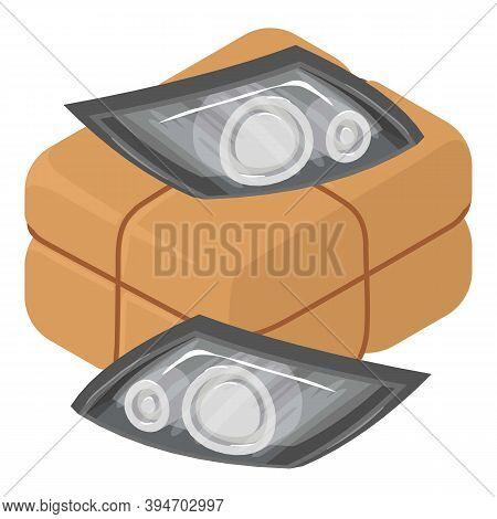 Car Headlight Icon. Isometric Illustration Of Car Headlight Vector Icon For Web