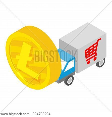 Litecoin Payment Icon. Isometric Illustration Of Litecoin Payment Vector Icon For Web