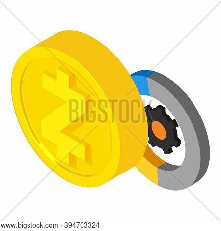 Zcash Cryptocurrency Icon. Isometric Illustration Of Zcash Cryptocurrency Vector Icon For Web
