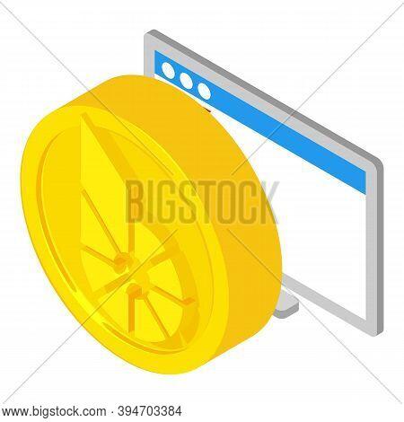 Bitshares Cryptocurrency. Isometric Illustration Of Bitshares Cryptocurrency Vector Icon For Web