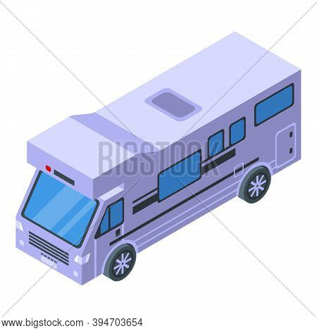Tourism Bus Icon. Isometric Of Tourism Bus Vector Icon For Web Design Isolated On White Background
