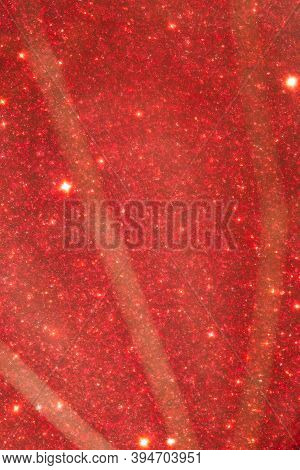 Red Foggy Background. Glitter Foggy Background. Decoration For Covers, Greetings, Flyers, Invitation