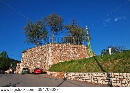 Sarajevo, Bosnia And Herzegovina - 27 Apr 2018: The Castle In Sarajevo City, Bosnia And Herzegovina