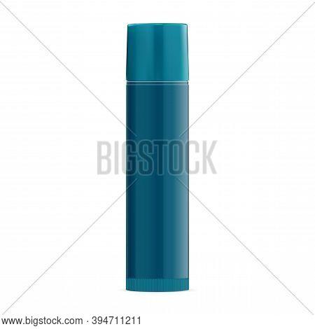Lip Balm Stick. Gloss Lipstic Tube Vector Blank Mockup. Lipgloss Protection Container, Makeup Produc