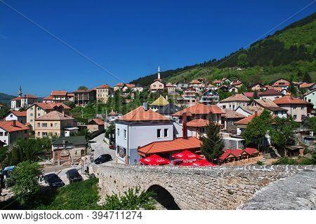Travnik, Bosnia And Herzegovina - 28 Apr 2018: The View On Travnik, Bosnia And Herzegovina