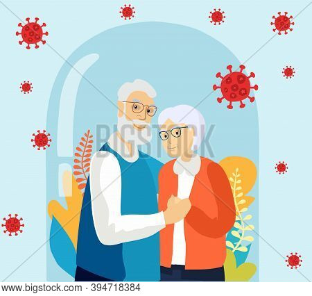 Senior Age Family Romantic Pastime. Pensioners Pastime. Healthy Lifestyle. Old Couple Spends Time To