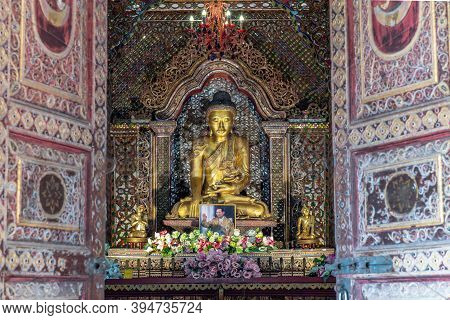 Lampang, Thailand - Sep 04, 2019 : The Buddha Image Within Sri Chum Temple Is An Old Burmese Style A