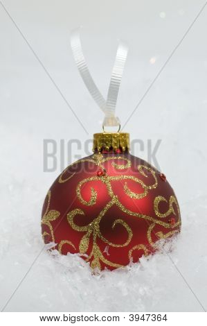 Gold & Red Christmas Ornament