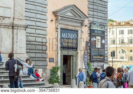 Rome / Italy - May 4, 2015: Leonardo Da Vinci Museum (museo Leonardo Da Vinci) In Rome, Italy