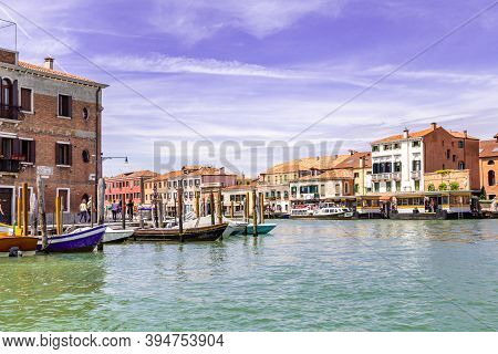 Venice Italy - May 26, 2019: Skyline Of Murano Island, Famous Because Of His Glass, With Houses, Lux