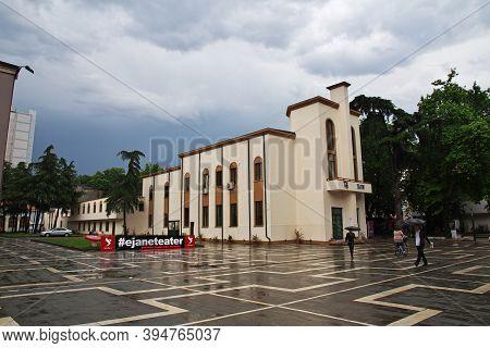 Tirana, Albania - 08 May 2018: The Building In Tirana, Albania