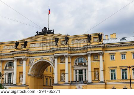 Senate And Synod Building (now Headquarters Of The Constitutional Court Of Russia) On Senate Square