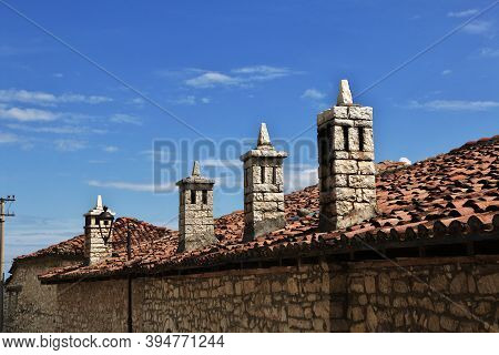 The Chimney Of The House In Berat, Albania