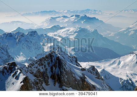 Ski area in the Dolomites