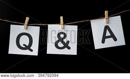 Questions And Answers Abbreviation On White Paper Stickers With Balck Background