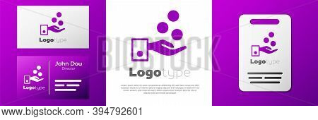 Logotype People Paying Tips To Service Staff In Restaurant And Hotel Icon Isolated On White Backgrou