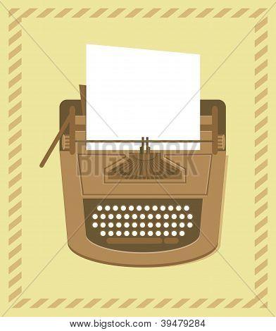 Typewriter In Retro Style