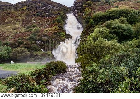 Assaranca Waterfall By Ardara In County Donegal - Ireland