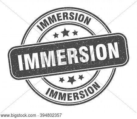 Immersion Stamp. Immersion Label. Round Grunge Sign
