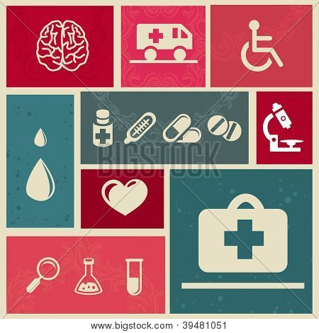 Design Elements With Medical Icons
