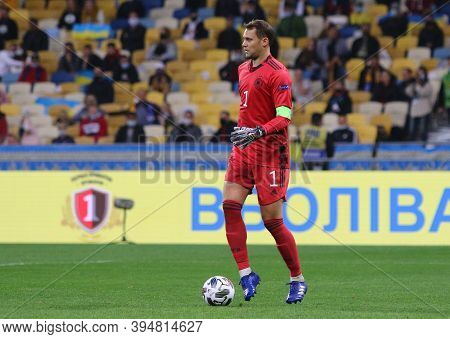 Kyiv, Ukraine - October 10, 2020: Goalkeeper Manuel Neuer Of Germany In Action During The Uefa Natio