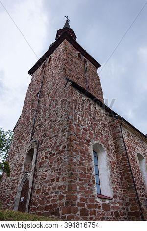 Finland, Aland Islands, Marienhamn, August 2019: All-scandinavian Maritime Cathedral In Yomala, A 12