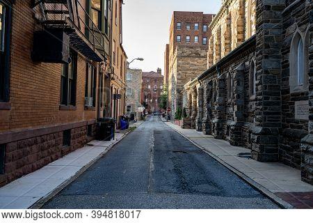 An Alleyway In The City Of Harrisburg, Pennsylvania.