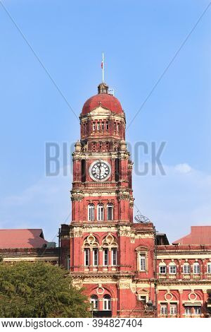 The Old High Court Building Was Constructed In The 1905 In Yangon The Capital Of Myanmar In British