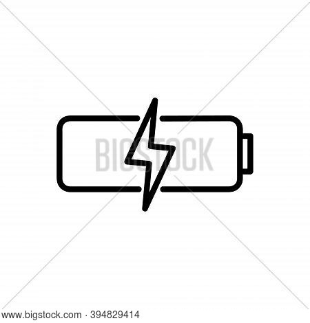 Battery Icon Isolated On White Background From User Interface Collection. Battery Icon Trendy And Mo