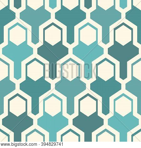 Contemporary Geometric Pattern. Puzzle Ornament. Repeated Interlocking Figures. Modern Mosaic Backgr