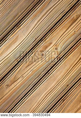 Background Or Texture Detail On Wooden Siding With Grooved Boards
