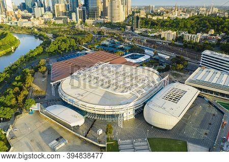 Melbourne, Australia - Nov 15, 2020: Aerial View Of Rod Laver Arena, The Main Venue For The Australi