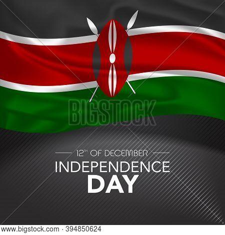Kenya Happy Independence Day Greeting Card, Banner, Vector Illustration