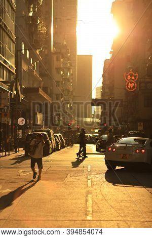 3 Oct 2020 The Sun Light Thought The Street At Mong Kok