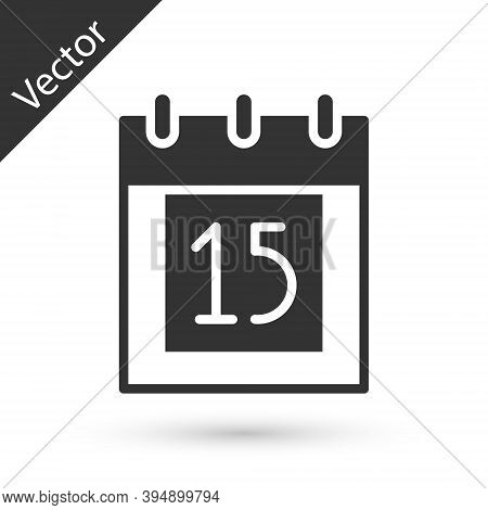 Grey Happy Independence Day India Icon Isolated On White Background. Flyer Design For 15th August. V