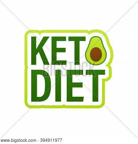 Ketogenic Diet Logo Sign. Keto Diet. Vector Illustration.