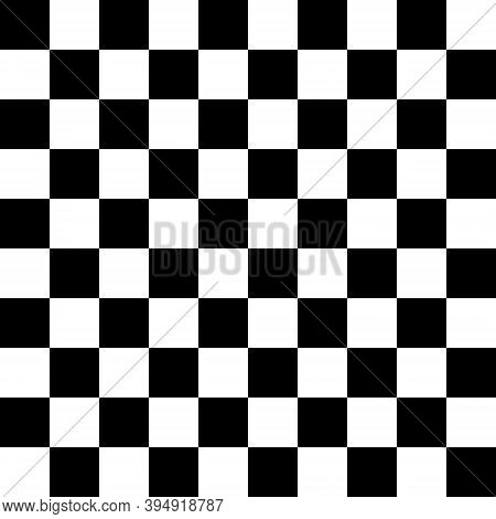 Chess Pattern. Black And White Checkered Background. Vector Geometric Design. Checkered Backdrop.