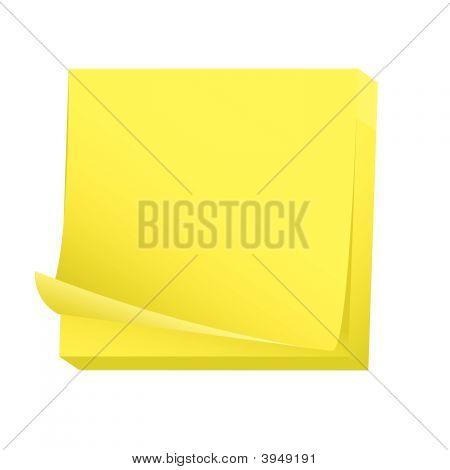 Blank Sticky Note Pad