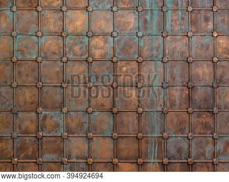 Fantasy Background: The Surface Is Sheathed With Copper Sheets And Reinforced With A Lattice. Middle
