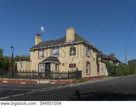 Egerton, Kent, Uk,  September 2020 - The Queens Arms Public House In The Village Of Egerton, Kent, U