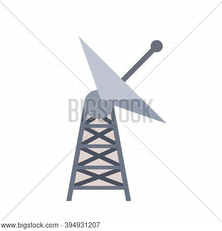 Antenna For Receiving Radio And Television Signals. Radar Tower. Metal Industrial Construction. Radi